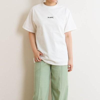 X-girl エックスガール エンブロイダリーミルズロゴT