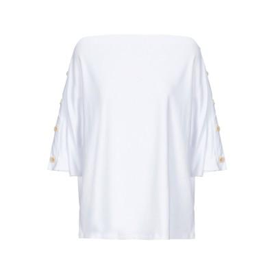 RUE•8ISQUIT T シャツ ホワイト S コットン 95% / ポリウレタン 5% T シャツ