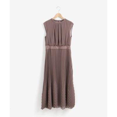 ドレス フロントタックプリーツドレス