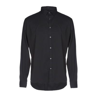 GIANFRANCO CENCI シャツ ブラック XL コットン 65% / ナイロン 32% / ポリウレタン 3% シャツ