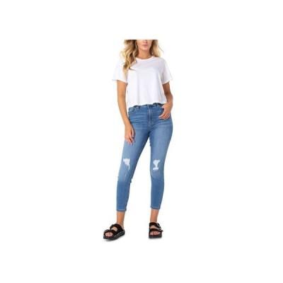 セレブリティピンク レディース デニムパンツ ボトムス Juniors' High-Rise Skinny Ankle Jeans