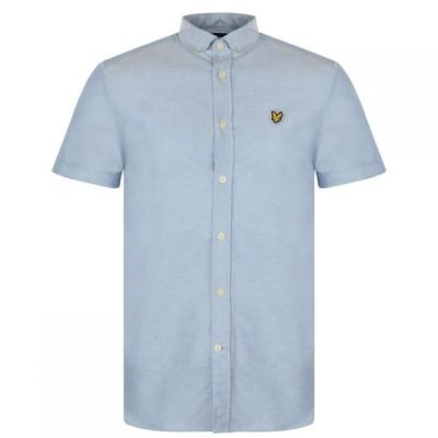 ライル アンド スコット Lyle and Scott メンズ 半袖シャツ ワイシャツ トップス Lyle Short Sleeve Oxford Shirt X RIVIERA