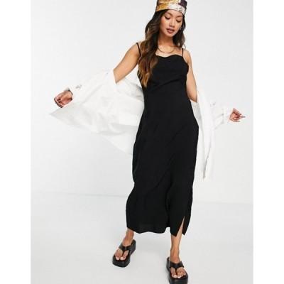 ホイッスルズ レディース ワンピース トップス Whistles easy cami midi dress in black