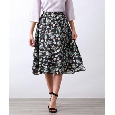 AMACA/アマカ FRORAL PRINTスカート ネイビー2 38