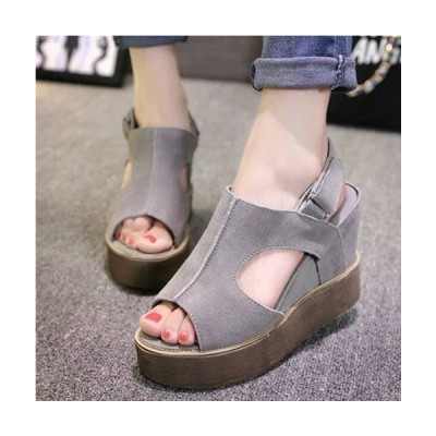サンダル ウェッジサンダル 厚底 夏 靴 歩きやすい 厚底サンダル レディース