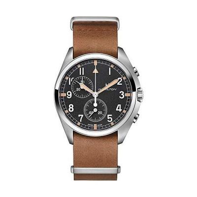 腕時計 ハミルトン メンズ H76522531 Hamilton Khaki Pilot Pioneer Chronograph Quartz Black Dial Men's