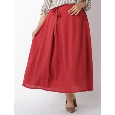 【大きいサイズ】リラックススカート 大きいサイズ スカート レディース