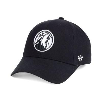 47ブランド メンズ 帽子 アクセサリー Minnesota Timberwolves Black White MVP Cap
