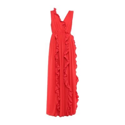 エムエスジーエム MSGM ロングワンピース&ドレス レッド 44 ポリエステル 100% ロングワンピース&ドレス