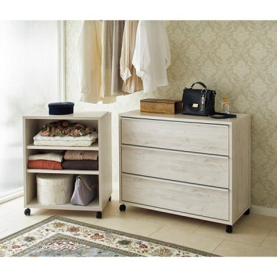 家具 収納 衣類収納 押入収納 クローゼット収納 Mieli/ミエリ キャスター付きワゴン 幅60cm(高さ75.5cm) H09012