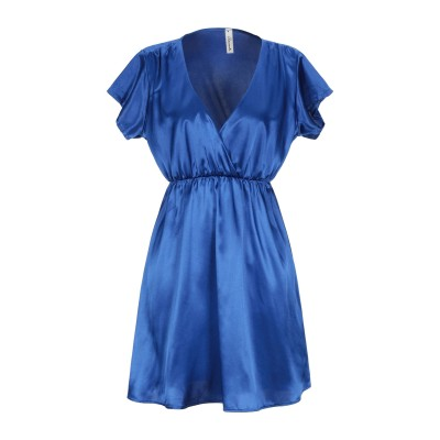 スーベニア SOUVENIR ミニワンピース&ドレス ブライトブルー XS ポリエステル 97% / ポリウレタン 3% ミニワンピース&ドレス