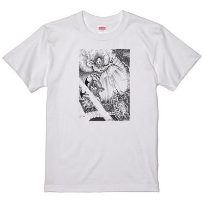 和柄 風神 雷神 龍神 Tシャツ和風