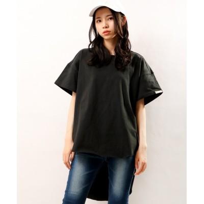 tシャツ Tシャツ 【Arinomama】綿100%テールカット裾プルオーバー