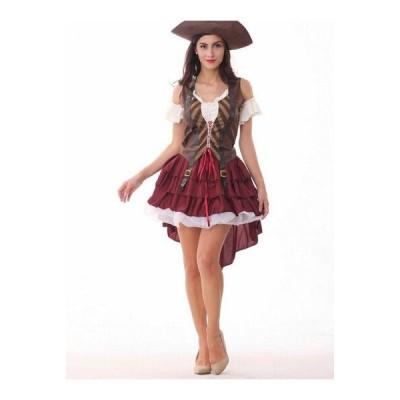コスプレ衣装 ハロウィン衣装 女性用 パイレーツオブカリビアン風 大人用 ・海賊帽付