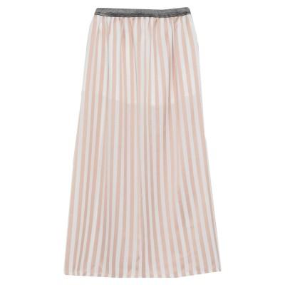 LE VOLIÈRE ロングスカート サンド S ポリエステル 100% ロングスカート
