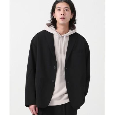 【コーエン】 COOLFIBER(R)ルーズシルエットテーラードジャケット(セットアップ対応)# メンズ ブラック MEDIUM coen