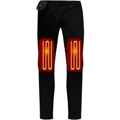 アクションヒート カジュアルパンツ ボトムス レディース ActionHeat Women's 5V Heated Base Layer Pants Black