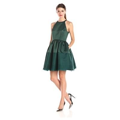 エリン erin fetherston レディース Savannah Halter Illusion Hem ドレス, ディープ ジェ(海外取寄せ品)