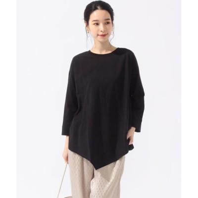 SHIPS for women/シップスウィメン assiette:コットンバイアスロングスリーブTシャツ ブラック ONE SIZE