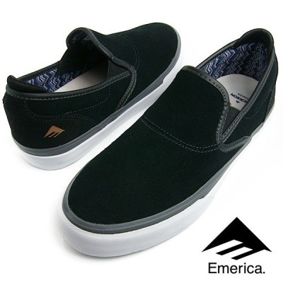 Emerica エメリカ WINO G6 SLIP-ON (581) ワイノ スリッポン BLACK/GREY/WHITE メンズ レディース スニーカー スケシュー スケートシューズ