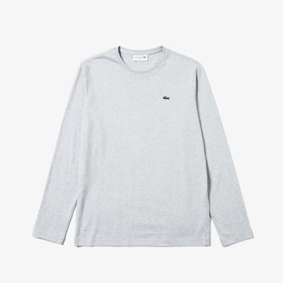 [ラコステ]クルーネックTシャツ (長袖) ホワイト S(003) メンズ アウター/トップス グレー M(004)