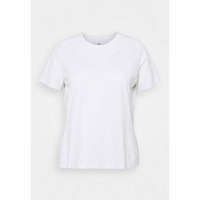 アディダス シャツ レディース トップス HEAT TEE - Basic T-shirt - white