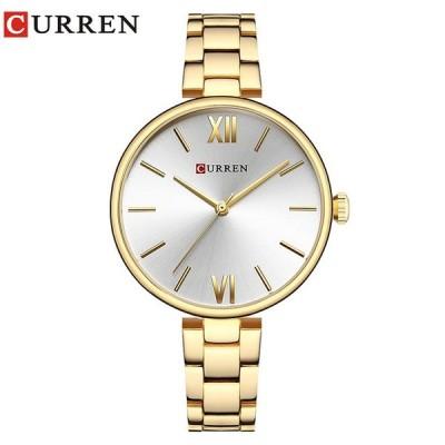 女性腕時計 カレン シンプル 防水 ドレスウォッチ プレゼント ゴールドシルバー