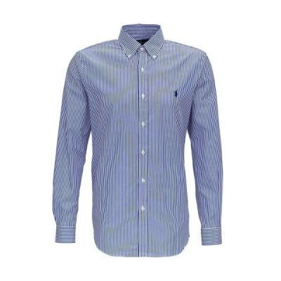 ラルフローレン メンズ シャツ トップス Polo Ralph Lauren Logo Embroidered Striped Shirt -