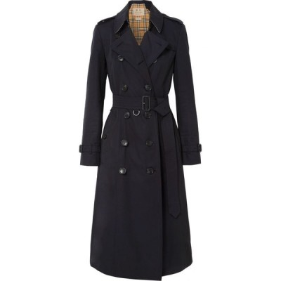 バーバリー Burberry レディース トレンチコート アウター The Chelsea Long cotton-gabardine trench coat