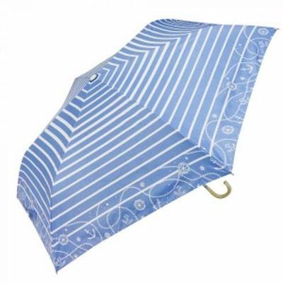 Fair mode 晴雨兼用 折りたたみ傘 50cm mini マリンボーダー SMM-2027 ブルー 【送料無料】(アンブレラ、日傘、傘、折畳傘、折りたたみ