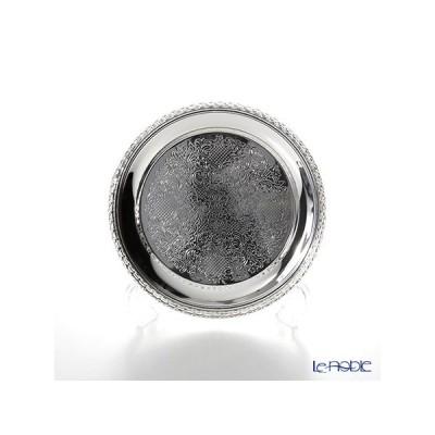 クイーン アン QUEEN ANNE(イギリス製銀メッキ) ギャラリー ラウンドトレイ S 18.5cm 0/6098