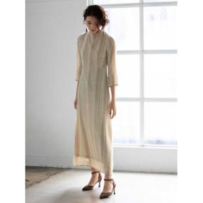 FRAY I.D ストライプカットジャガードドレス BEG 0