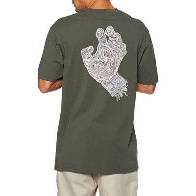 サンタクルーズ Santa Cruz メンズ Tシャツ トップス muerte screaming hand t-shirt short sleeve t-shirt Washed Black