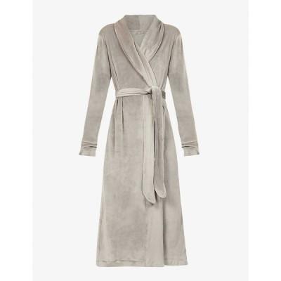スキムズ SKIMS レディース ガウン・バスローブ インナー・下着 Velour belted stretch-velour robe SMOKE