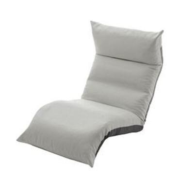 ds-2286884 リクライニング フロアチェア/座椅子 【グレー】 幅54cm 日本製 折りたたみ収納可 スチールパイプ ウレタン 〔リビング〕 (ds