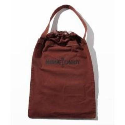 ミネトンカMT Drawstring bag big Brown【35701513】