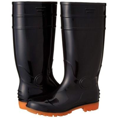 フジテブクロ 安全長靴 黒・白 耐油 ロング PVC 先芯入 8893 メンズ BLACK 27.0cm