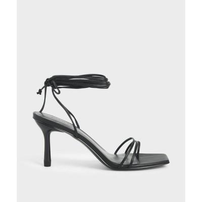 サンダル ストラッピータイアップ ヒール / Strappy Tie Up Heels