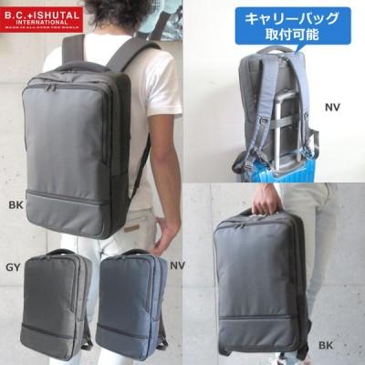 TOKI トキ  リュックサック リュック 手持ち 撥水 キャリーバッグ取付可能 ポケット多い スクエアリュック B4 お弁当入る 軽量 メンズ