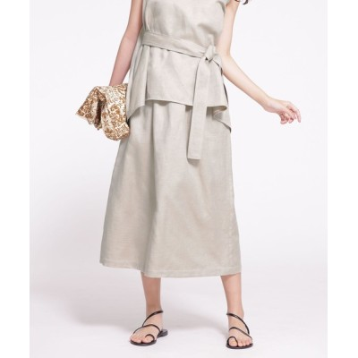 スカート ポケットステッチギャザースカート