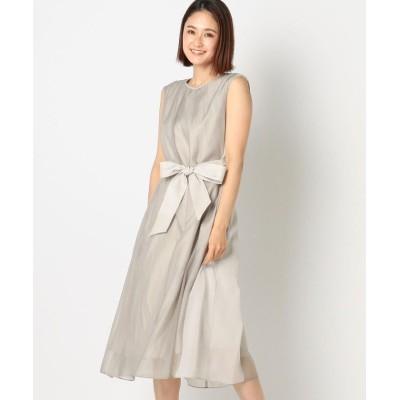【ミューズ リファインド クローズ】 シアーシフォンウエストマークドレス レディース グレー M MEW'S REFINED CLOTHES
