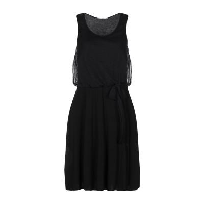 GRAZIA'LLIANI ミニワンピース&ドレス ブラック 40 レーヨン 96% / ポリウレタン 4% ミニワンピース&ドレス