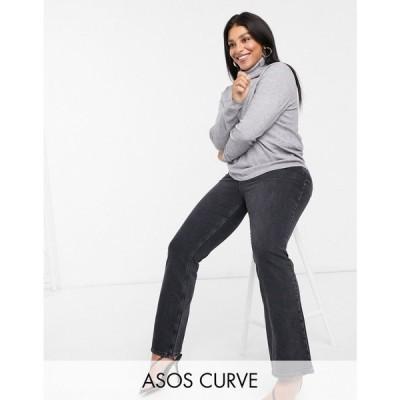 エイソス ASOS Curve レディース ニット・セーター トップス ASOS DESIGN Curve relaxed knit roll neck jumper グレー