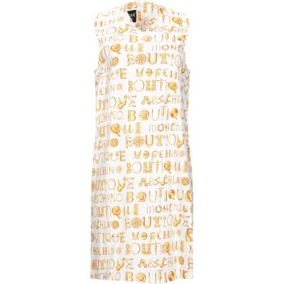 BOUTIQUE MOSCHINO ミニワンピース&ドレス ホワイト 38 コットン 97% / 指定外繊維 3% ミニワンピース&ドレス