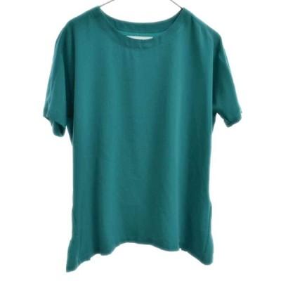 MM6 Maison Margiela (エムエムシックスメゾンマルジェラ) 14SS フレア半袖無地Tシャツ グリーン レディース