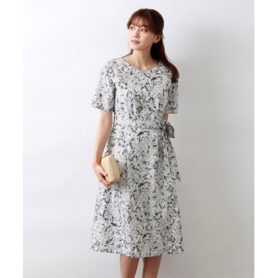(AMACA/アマカ)【Precious Collection】AUGUST ROSE EMBROIDERYワンピース/レディース ブラックネイビー