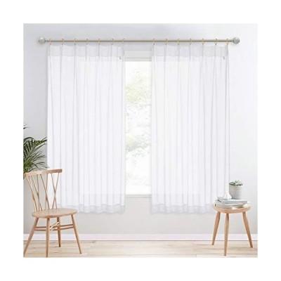 NICETOWN レースカーテン 遮熱 リネン素材 風通しの良い 半透明のカーテン ぼんやりした プライバシー保護 居間 ベッドルーム 新居