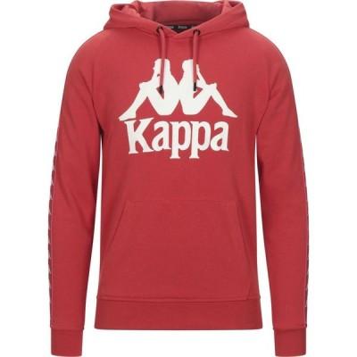 カッパ KAPPA メンズ スウェット・トレーナー トップス Hooded Sweatshirt Red