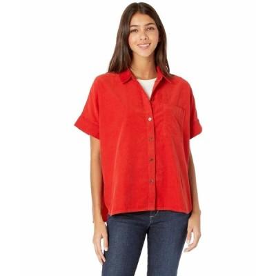 メイドウェル シャツ トップス レディース Mira Shirt in Corduroy Kilt Red