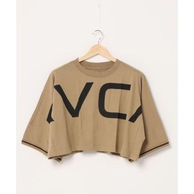 tシャツ Tシャツ RVCA レディース  OVER RVCA CRPD LS ロングスリーブTシャツ/ルーカ 半袖 ビッグロゴ クロップド